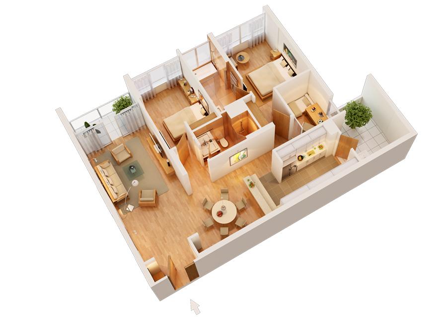nội thất căn hộ cao cấp mandarin garden