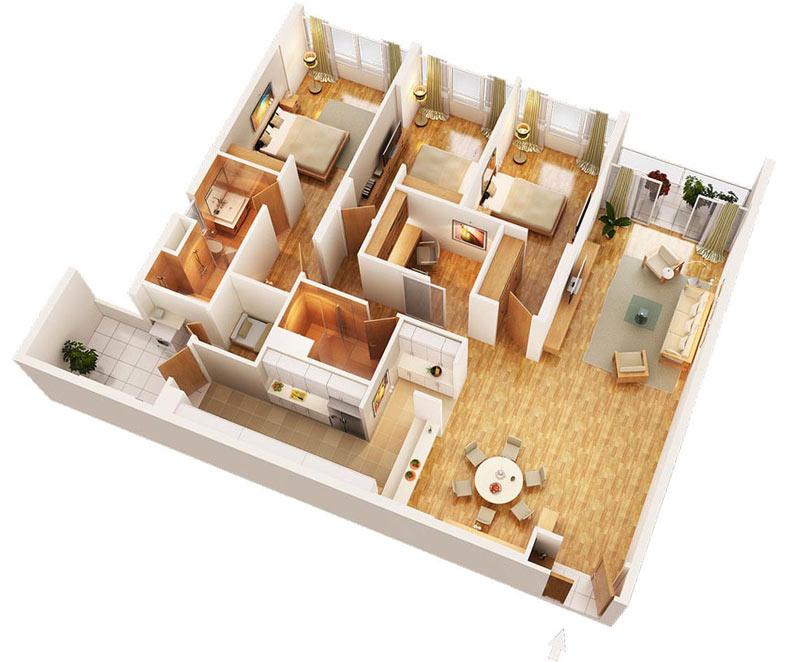thiết kế nội thất căn hộ cao cấp, chung cư mandarin garden